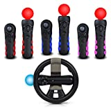 4-in-1 Multiclor controller grip and racing Wheel for Playstation Move