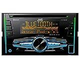 Auto-Radio-Doppel-DIN-CD-Receiver-JVC-USB-Bluetooth-uvm-passend-fr-Subaru-Legacy-Outback-2005-2009-incl-Einbauset