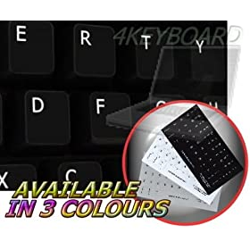 ENGLISH US NON-TRANSPARENT KEYBOARD STICKER WITH BLACK BACKGROUND