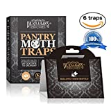Premium Pantry Moth Traps (6 Black Traps) With Pheromone Attractant | 100% Safe, Non-Toxic and Insecticide Free! | by Dr. Killigan's