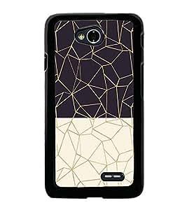 Black and White Zig Zag Pattern 2D Hard Polycarbonate Designer Back Case Cover for LG L70