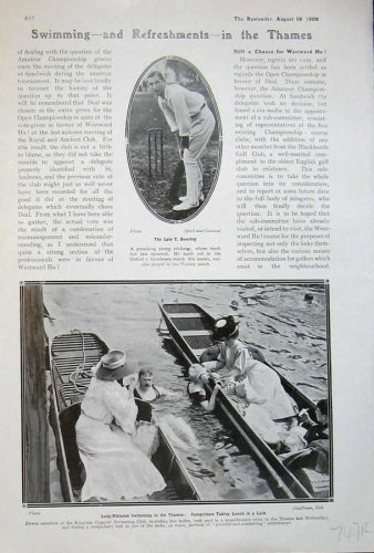 1908 Madge Archery Brooks Sport Bowring Swimming River