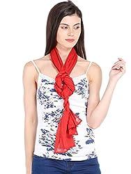 Ten on Ten Womens Plain scarf (Red_Freesize)
