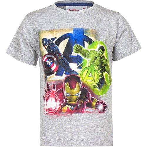 Marvel Avengers - Age Of Ultron - T-shirt Maglia Maglietta a Maniche Corte - Bambino - Primavera Estate - Prodotto Originale EP1592 [Grigio Melange - 10 anni - 140 cm]
