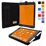 Snugg iPad Mini 3 Case - Smart Cover with Flip Stand & Lifetime Guarantee (Black Leather) for Apple iPad Mini 3 (2014)