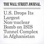 U.S. Drops Its Largest Non-nuclear Bomb on ISIS Tunnel Complex in Afghanistan | Ben Kesling,Carol E. Lee