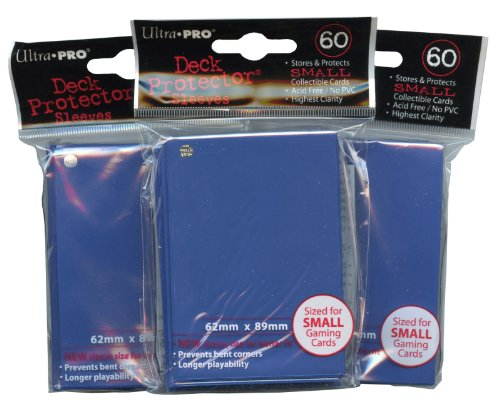 Ultra Pro Card Supplies YuGiOh Sized Deck Protector Sleeves Royal Blue 60 Count x3