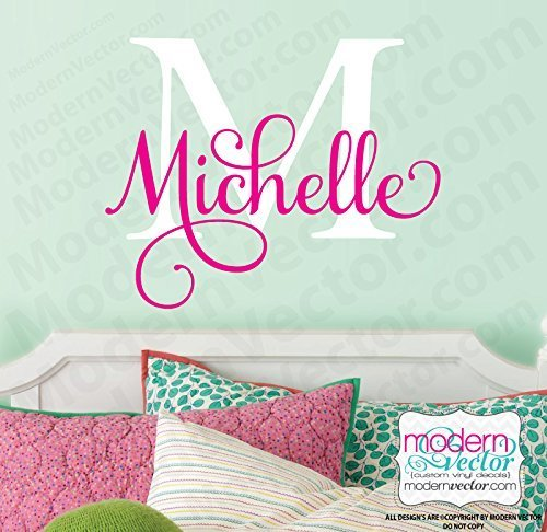 Monogram Personalized Name Vinyl Wall Decal V546