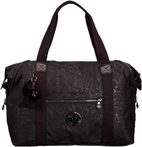 Kipling Art M Medium Travel Tote Bag K01362A13 Black Snake