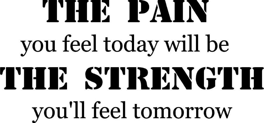 Pain You Feel Today...Strength Tomorrow Fitness Vinyl Wall Decal