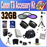 51Y6MP2kKhL. SL160  Top 10 Digital SLR Camera Bundles for February 12th 2012   Featuring : #4: Canon EOS Rebel T3i 18 MP CMOS Digital SLR Camera and DIGIC 4 Imaging with EF S 18 55mm f/3.5 5.6 IS Lens & Canon 55 250IS Lens + 58mm 2x Telephoto lens + 58mm Wide Angle Lens (4 Lens Kit!!!!!!) W/32GB SDHC Memory+ Battery Grip + 2 Extra Batteries + Charger + 3 Piece Filter Kit + UV Filter + Full Size Tripod + Case +Accessory Kit