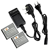 DSTE® 2pcs SLB-07A Rechargeable Li-ion Battery + Charger DC91U for Samsung SLB-07, SLB-07A, SLB-07B, SLB-07EP and Samsung PL150, PL151, ST45, ST50, ST500, ST550, ST560, ST600, TL100, TL210, TL220, TL225, TL90