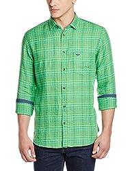 Park Avenue Men's Casual Shirt (8907117088018_PCSZ00811-N4_40_Medium Green)