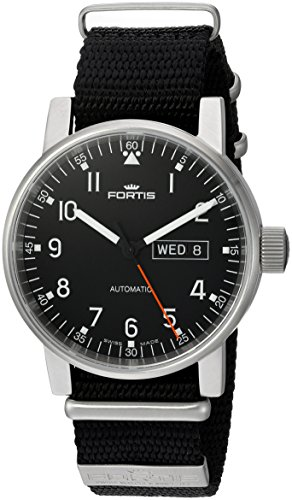 Fortis-Mens-6231071-N01-Spacematic-Pilot-Proffesional-Analog-Display-Automatic-Self-Wind-Black-Watch