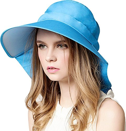 Bienvenu Summer Wide Large Brim Sun Visor Swimming UPF 50+ Beach Sun Hat