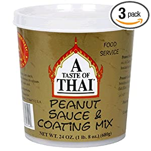 A Taste of Thai Peanut Sauce Mix, 24-Ounce Tubs (Pack of 3) - Find Out More!