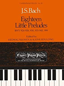 Eighteen Little Preludes Bwv 924-8 930 933-43 999 Bach Js from Associated Board of the Royal Schools of Music