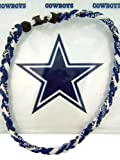 20 Inch Navy Blue White Braided Titanium Fiber Sports Necklace with Dallas Cowboys Plastic Carrying Bag Reviews