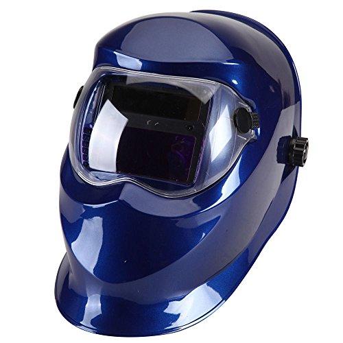 Solar Auto Darkening Welder Mask Helmet Electrowelding Welding TIG MIG Welder Lens Mask Dark Blue/Red (Welding Helmet Accesories compare prices)