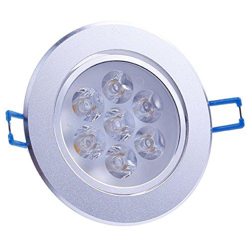 Sunsbell 7W Led Downlight Ceiling Light Recessed Lighting Fixtures Warm White 3000K