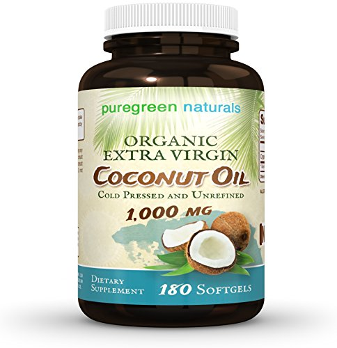 Coconut Oil Capsules - 1000 mg Organic Extra Virgin - 180 Softgels - Great Pills for Energy, Weight Management, Hair, and Skin (Acid Capsules Extra compare prices)