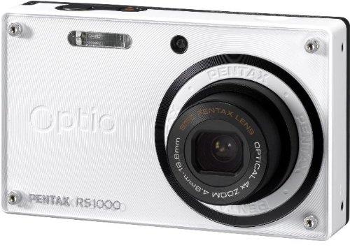 PENTAX デジタルカメラ Optio RS1000 ホワイト 1400万画素 27.5mm 光学4倍 着せ替え デジタルカメラ OptioRS1000WHOPTIORS1000WH