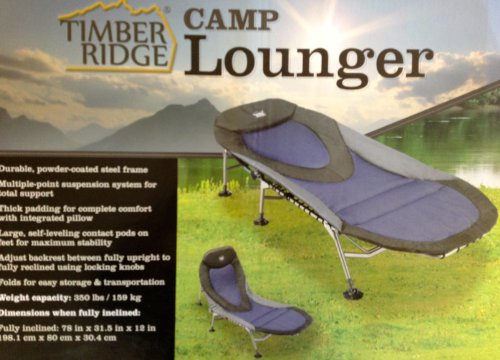 Timber Ridge Camp Lounger Amy J Hallos