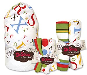 Trend Lab Dr. Seuss ABC 3pc Bouquet Set with Hooded Towel Wash Cloth and Burp Cloth