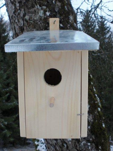 Dekorativer-Nistkasten-N6-Zinkdach-Gro-Vogelhaus-Vogelhuschen-sauberste-Verarbeitung-Vogelhaus-Garten-Deko