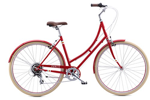 "Big Save! PUBLIC Bikes Women's C7 Dutch Style Step-Thru 7-Speed City Bike, 20""/Large, Red (2015..."