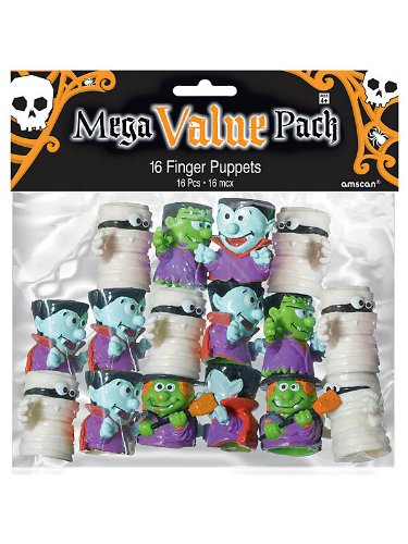Plastic Monster Finger Puppets (16 Count)