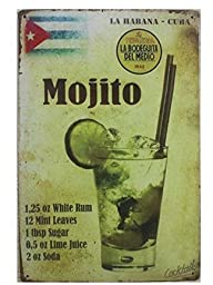 Yours Dec Metal Tin Sign La Habana Cuba Mojito Drink Tin Sign Wall Retro Metal Bar Pub Poster Metal 8inch