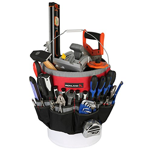 Ironland Bucket Tool Organizer Made of tough 600D water resistant polyester with strong webbings. Fits most 5 gallon buckets (Lineman Bucket Truck compare prices)