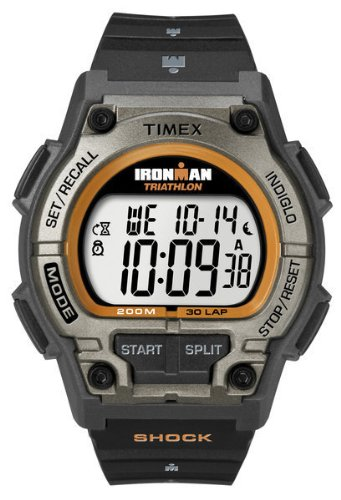 Timex Ironman Men's Digital Watch with LCD Dial Digital Display and Black Resin Strap T5K341