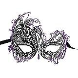 Fancy Masquerade Máscara Swan metal veneciano máscara de fiesta con brillantes