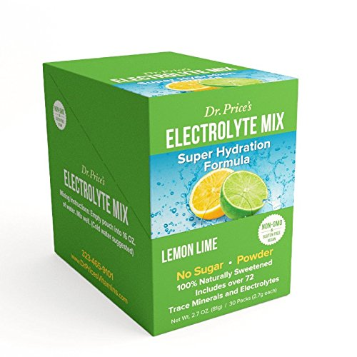 Electrolyte Mix: Super Hydration Formula + Trace Minerals | Lemon-Lime Flavor (30 powder packets) Drink Mix | Dr. Price's Vitamins (Powder Sports Drink Mix compare prices)