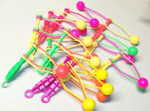 Neon Plastic Clackers, Klakkers, Noise Makers, Party Favors 12 PACK - 1