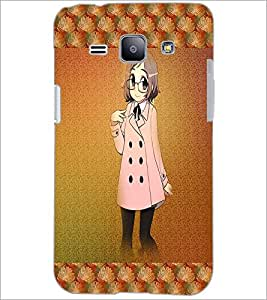 PrintDhaba Studious Girl D-4585 Back Case Cover for SAMSUNG GALAXY J1 (Multi-Coloured)