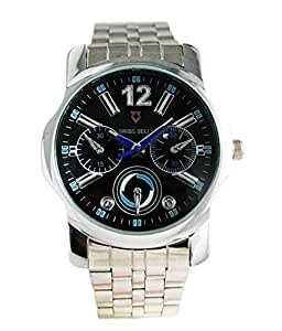 Svviss Bells Svviss Bells Mesmerizing Black & Blue Dial Chronograph Look Watch