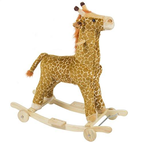 Best-Choice-Products-Kids-Ride-On-Rocking-Giraffe-Plush-Animal-Rocker-W-Wheels-Children-Play-Toy-Ride-On