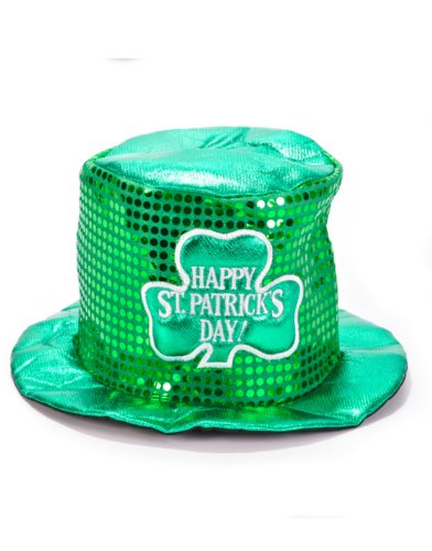 Saint Patrick's Day Sequin Irish Shamrock Top Hat
