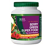 #1 Raw and Organic Green Superfood Powder with Amazing Berry Flavour - All Natural Whole Food Nutrition - Powerful Anti-Oxidants, Pre & Probiotics, Vitamins and Minerals - Highest Quality Green Superfood - Vegan & Gluten Free - 240 Grams