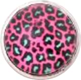 Chunk Snap Charm Rhodium Plated Leopard Print Glass Cover 18 mm for Fashion Jewelry Chunk Snap Leather Bracelets Reviews