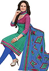 Tripssy Women's Cotton Printed Unstitched Salwar Suit (fb_dm_40, Yellow)
