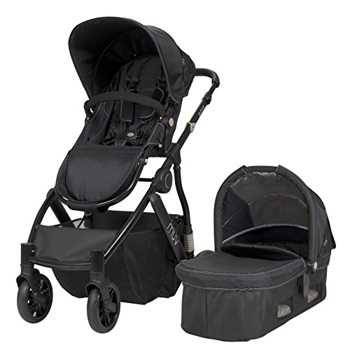 MUV REIS Stroller Satin Black Frame with Black Hood
