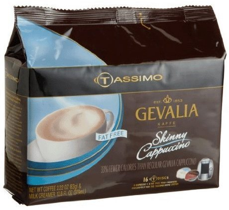Tassimo Gevalia Fat Free Skinny Cappuccino (includes 8 Fat-Free Milk Creamer T DISCS and 8 Gevalia Espresso T DISCS) (Tassimo Fat Free compare prices)