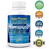 Omega 3 Fish Oil   1500 mg Omega 3, 800 mg EPA, 600 mg DHA - Triple Strength Pharmaceutical Grade Liquid Softgel Capsules - No Fishy or Burpy Aftertaste - 180 count