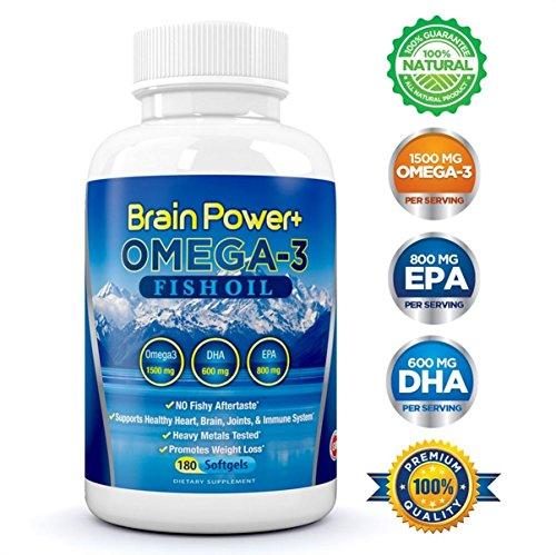 Brain Power + Omega 3 huile de poisson