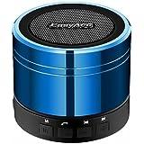EasyAcc Mini Bluetooth 4.0 Lautsprecher (3,5 mm Audio, Mikrofon, FM Radio, Micro SD Karte), Blau