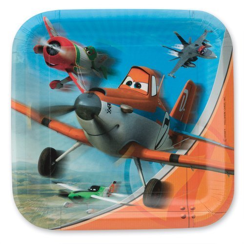 Disney Planes Lunch Plates - Birthday & Theme Party Supplies - 8 per pack by SmileMakers